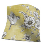 Made To Measure Roman Blinds Finch Toile Buttercup Flat Image