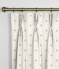 Pinch Pleat Curtains Dotty Natural