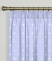 Pencil Pleat Curtains Dotty Powder Blue
