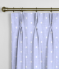 Pinch Pleat Curtains Dotty Powder Blue