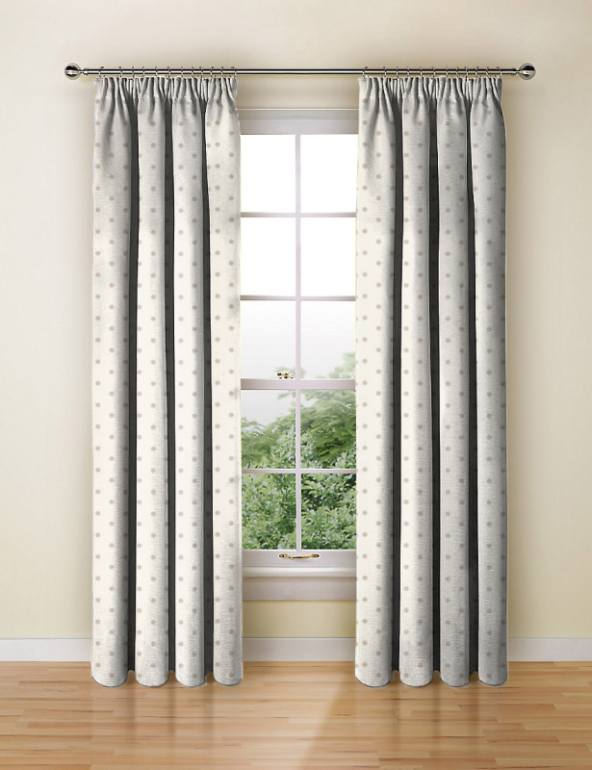 Made To Measure Curtains Dotty Natural