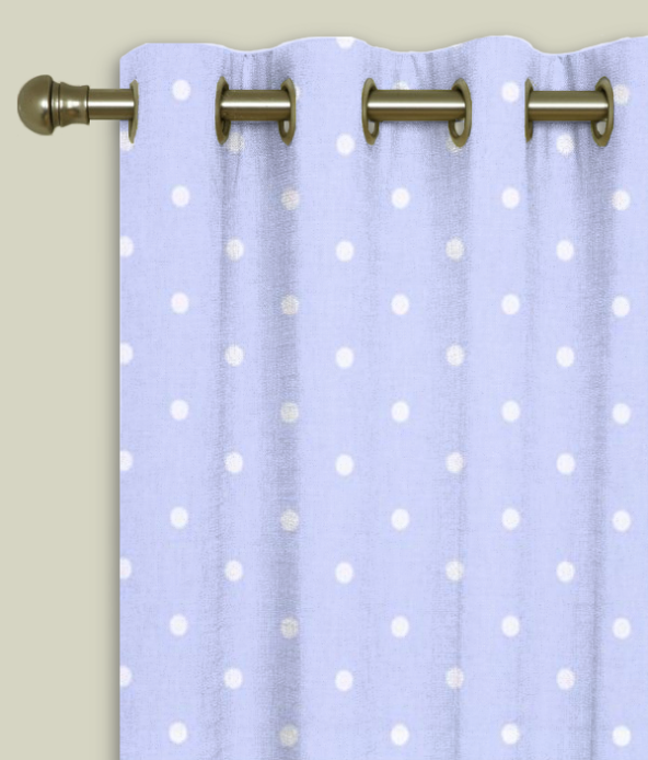 Eyelet Curtains Dotty Powder Blue