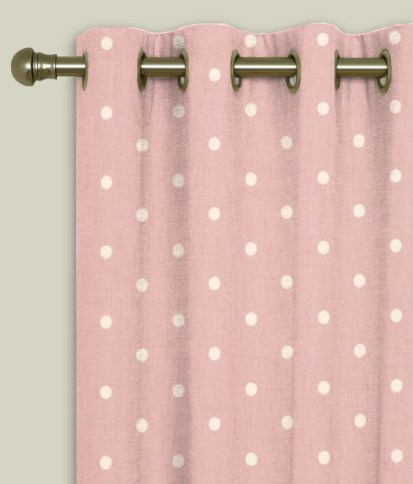 Eyelet Curtains Dotty Rose
