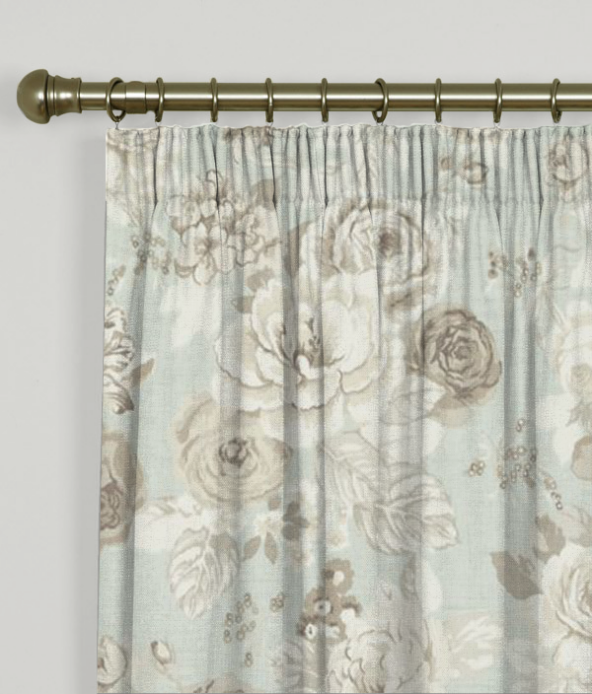 Pencil Pleat Curtains Genevieve Mineral