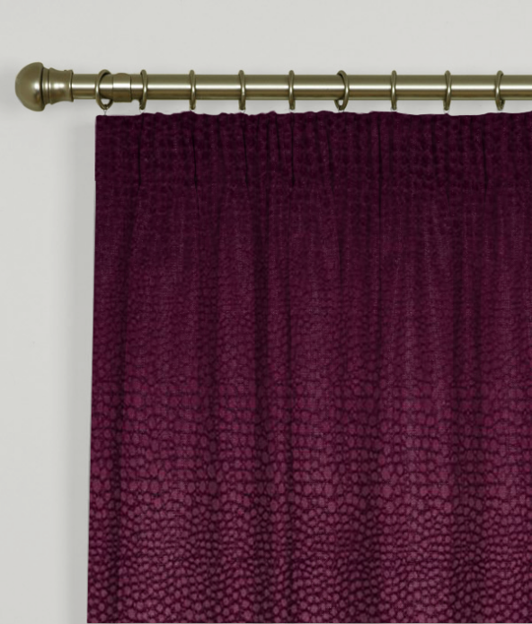 Pencil Pleat Curtains Pulse Velvet Claret