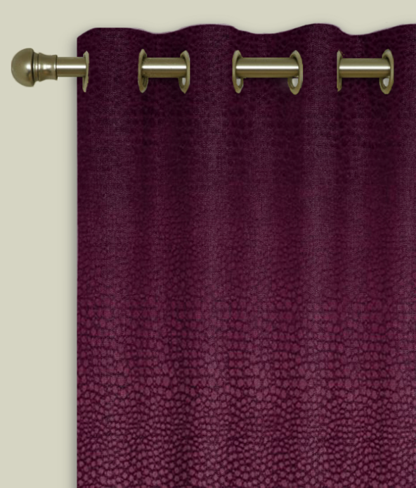 Eyelet Curtains Pulse Velvet Claret
