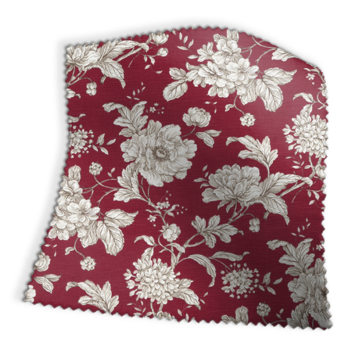 Made To Measure Roman Blinds Aquitaine Rouge Swatch