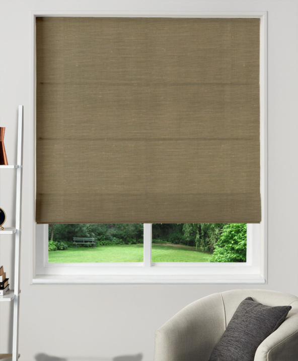 Made to Measure Roman Blind Dupion Faux Silk Bronze
