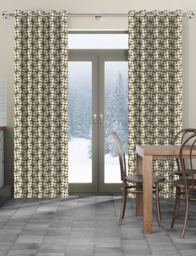 Made To Measure Curtains Woven Acorn Cup Charcoal
