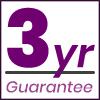 3 year guarantee logo