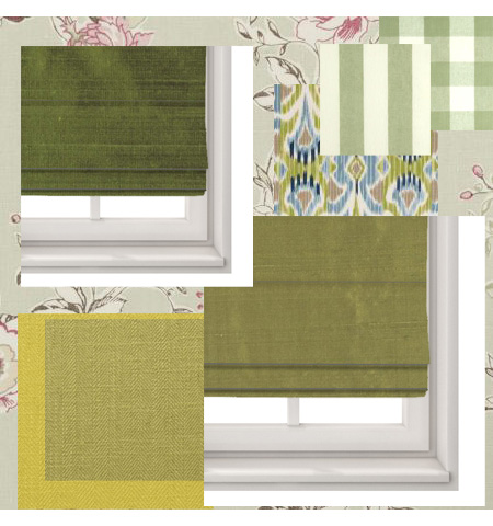 Green Roman Blinds