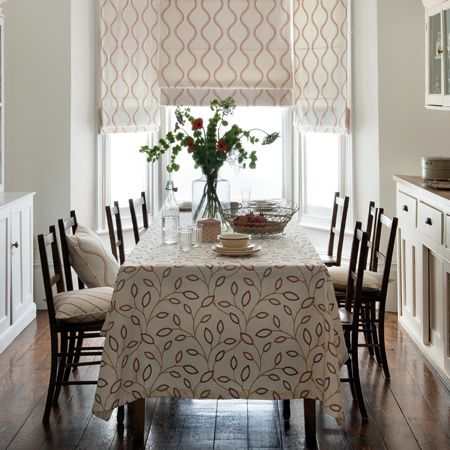 Groove Embroidered Cotton Roman Blinds