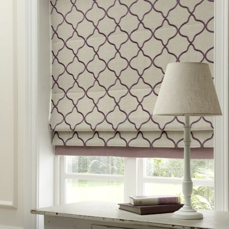 Leyla Linen Embroidered Roman Blind