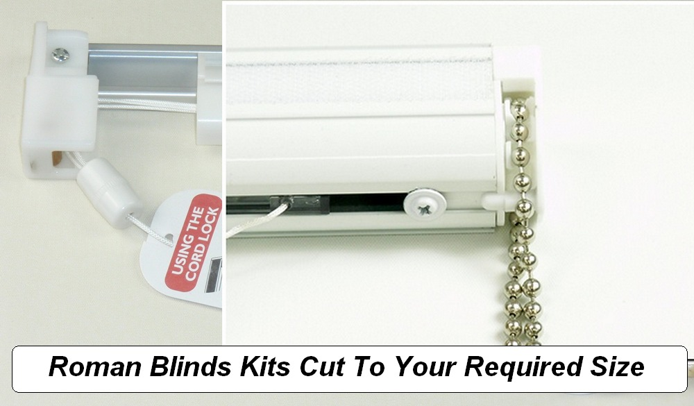 Made to measure roman blinds kits.
