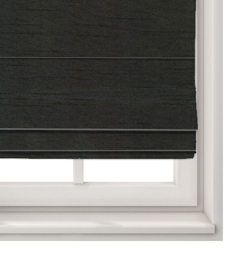Faux Silk Black Roman Blind