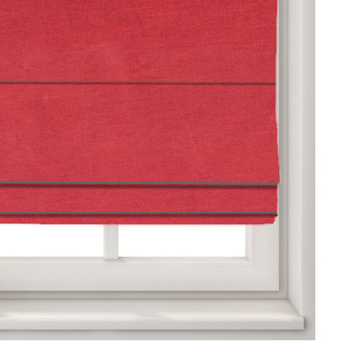 Faux Silk Plum Roman Blind
