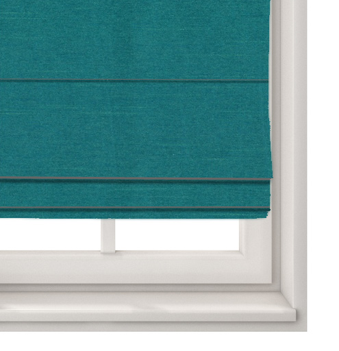 Faux Silk Teal Roman Blind
