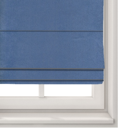Suede Blue Roman Blind