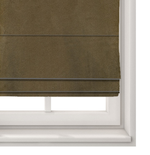 Suede Chocolate Roman Blind