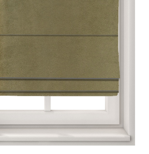 Suede Coffee Roman Blind