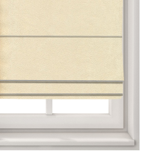 Suede Cream Roman Blind