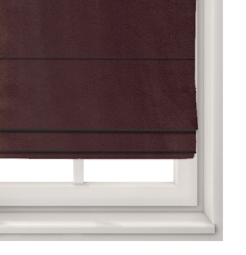 Suede Mulberry Roman Blind