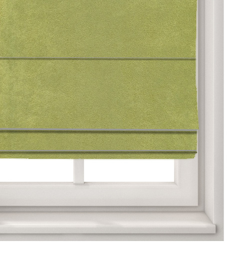 Suede Olive Roman Blind