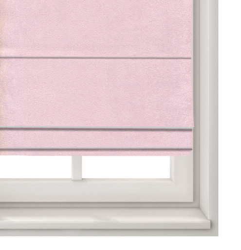 Suede Pink Roman Blind