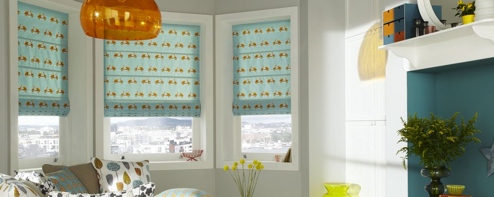 Beautiful Made To Measure Roman Blinds In iLiv Fabrics
